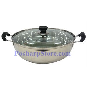 Picture of Haifa 12.6 Inch Stainless Steel Double-End Thick Hot Pot with Lid