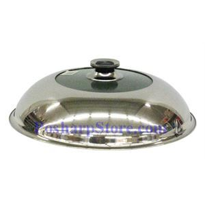 Picture of 13.4 Inch Glass Centered Stainless Steel  Pan/Wok Cover