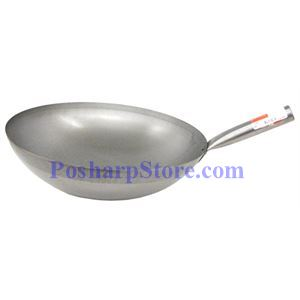 "Picture of 16"" Chinese Handle Iron Wok"