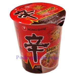 Picture of Nong Shim Shin Super Spicy Instant Mushroom Noodles
