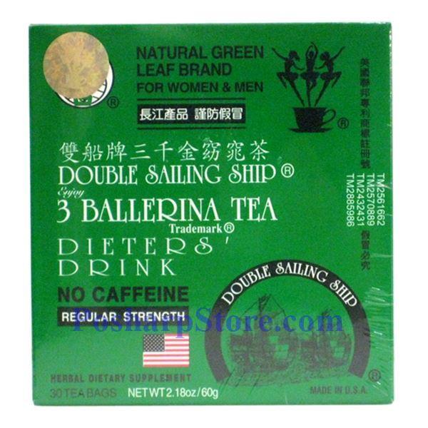 Picture for category 3 Ballerina Tea Dieter's Drink Regular Strength 30 Teabags