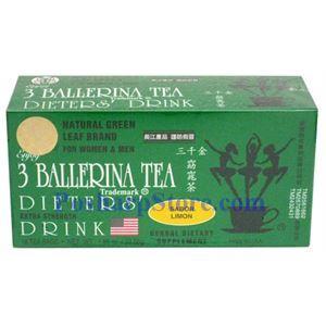 Picture of 3 Ballerina Tea Dieter's Drink Extra Strength Lemon Flavor 18 Teabags
