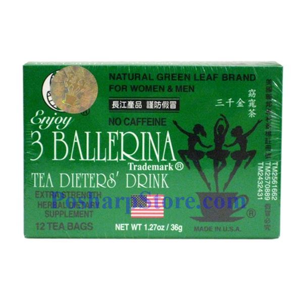 Picture for category 3 Ballerina Tea Dieter's Drink  Extra Strength 12 Tea Bags