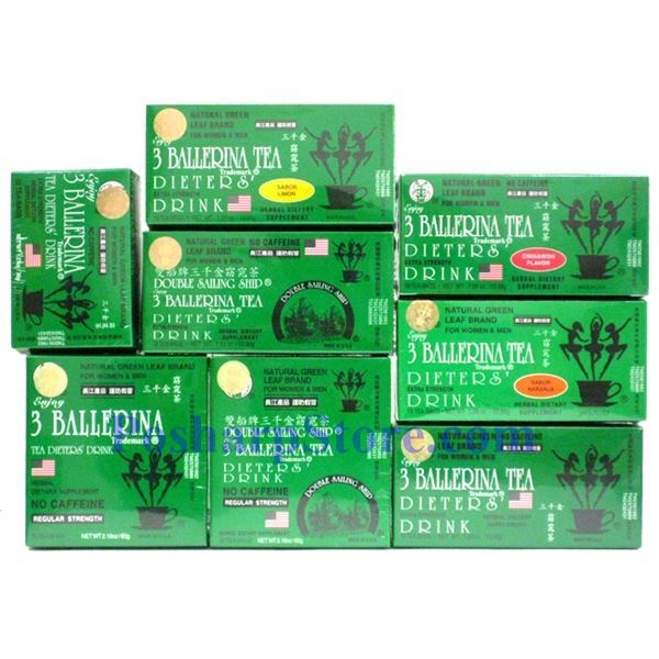 Picture for category 3 Ballerina Tea Dieter's Drink Extra Strength 18 Tea Bags
