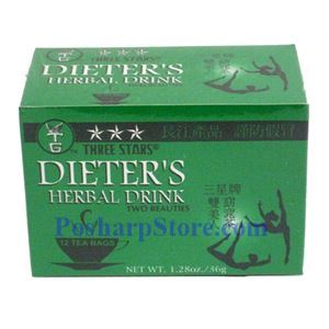 Picture of Three Star Dieter's Herbal Drink 12 Teabags