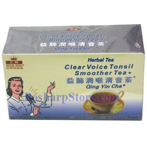 Picture of Royal King Clear Voice Tonsil Smoother Herbal Tea 20 Teabags
