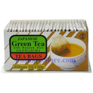 Picture of Japanese Green Tea with Roasted Rices (Genmaicha) 25 Bags