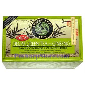Picture of Triple Leaf  Decaf Green Tea With Ginseng and Chinese Herbs 20 Teabags