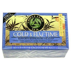 Picture of Triple Leaf  Cold & Flu Time  Herbal Tea 20 Teabags