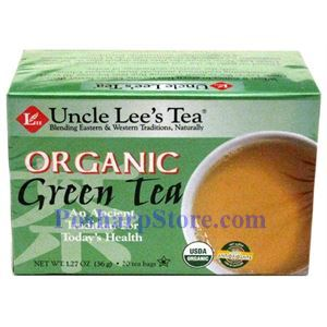 Picture of Uncle Lee's Tea Organic Green Tea 20 Teabags