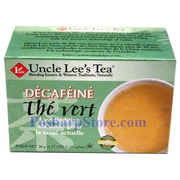 Picture for category Uncle Lee's Tea Decaffeinated Green Tea 20 Teabags