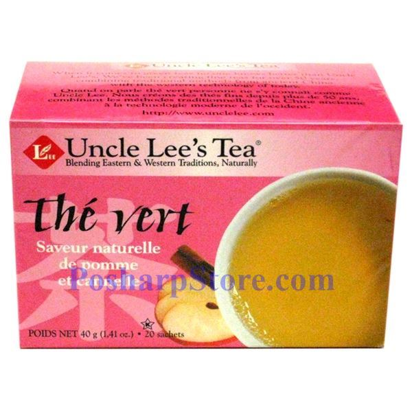 Picture for category Uncle Lee's  Green Tea with Cinnamon Apple Flavor 20 Teabags