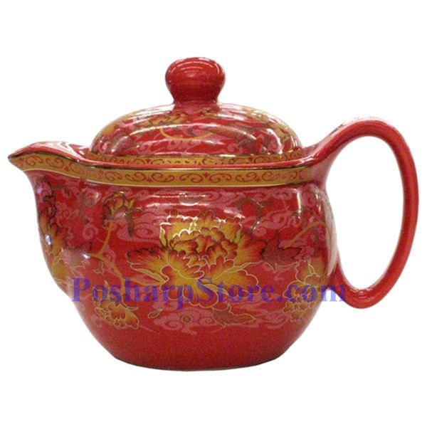 Picture for category Ceramic Vermilion Chrysanthemum Teapot Set