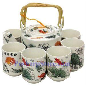 Picture of Ceramic Lotus Teapot Set