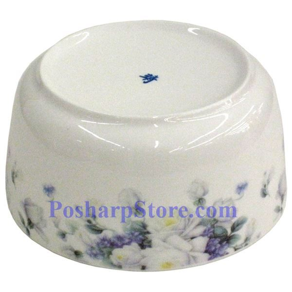 Picture for category Porcelain 6-Inch Purple Flower Bowl with Cover
