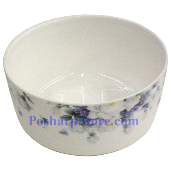 Picture for category Porcelain 5.5-Inch Purple Flower Bowl with Cover