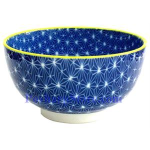Picture of Japanese 6-Inch Blue Diamond Porcelain Rice Bowl