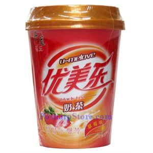 Picture of U-Melove Hong Kong Style Black Milk Tea, Strawberry Flavor