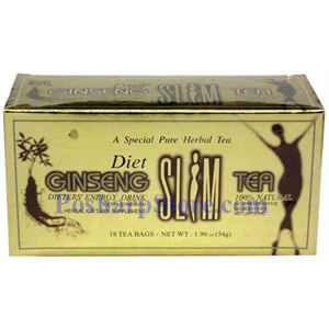 Picture of Diet Ginseng Slim Tea, A Special Pure Herbal Tea 18 Teabags