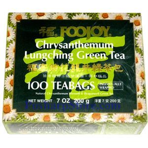 Picture of Foojoy Chrysanthemum Lungching Green Tea 100 Teabags