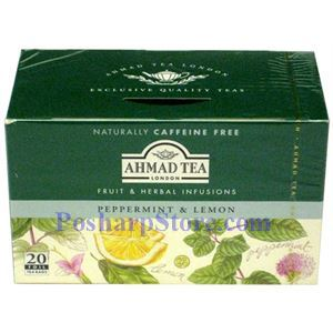 Picture of Ahmad Peppermint & Lemon Tea, 20 Teabags