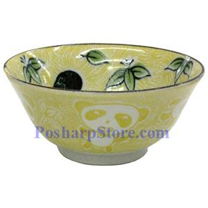 Picture of Japanese 6-Inch Yellow Panda Porcelain Flaring Rice Bowl
