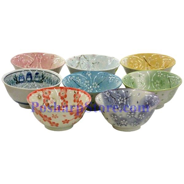 Picture for category Japanese 6-Inch Purple Plum Blossom Porcelain Rice Bowl