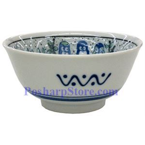 Picture of Japanese 6-Inch Blue Penguin Blossom Porcelain Rice Bowl