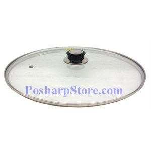 Picture of Stainless Steel Edged 36CM Glass Wok Cover