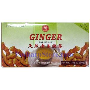 Picture of Beauti-Leaf Ginger Green Tea 20 Extra Strength Teabags