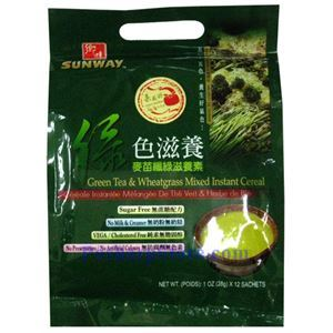 Picture of Sunway Green Tea & Wheatgrass Mixed Instant Cereal