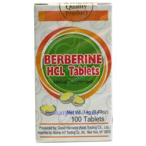 Picture of Berberine HCLTablets for Dysentery  100 Tablets