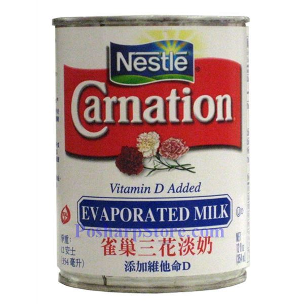 Nestle Carnation Evaporated Milk with Vitamin D Added 12 oz