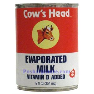 Picture of Cow's Head Evaporated Milk with Vitamin D Added 12 oz