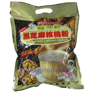 Picture of TastyFood Black Sesame & Walnut Powder 21 oz, 20 Sachets
