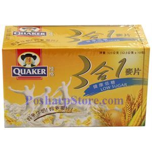 Picture of Quaker Instant 3-In-1 Low Sugar Natural Grains 11 oz