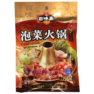 Picture of Sichuan Baiweizhai Paocai Spicy Hotpot Sauce 7 oz