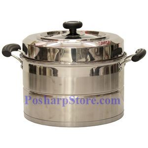 Picture of Laotesi 12 Inch Single Tier Stainless Steel American Style Stock Pot