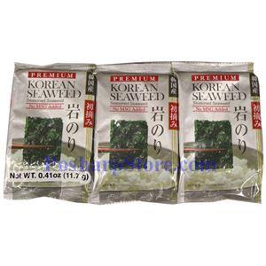 图片 韩国Shirakiku牌即食海苔 12克,3袋