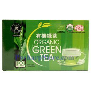 图片 蝴蝶牌有机绿茶 100茶袋装