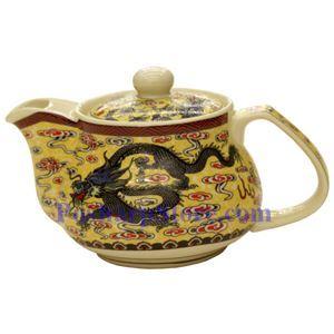 图片 金龙陶瓷如意茶壶(3英寸)
