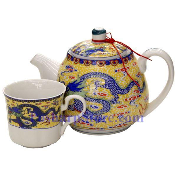 分类图片 双龙陶瓷茶壶