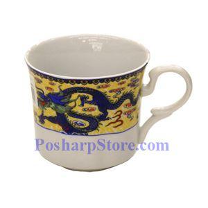 图片 双龙陶瓷茶杯(2.5英寸)