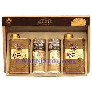 图片 韩国好餐得Haechandle牌特级麻油和特级海盐礼品盒
