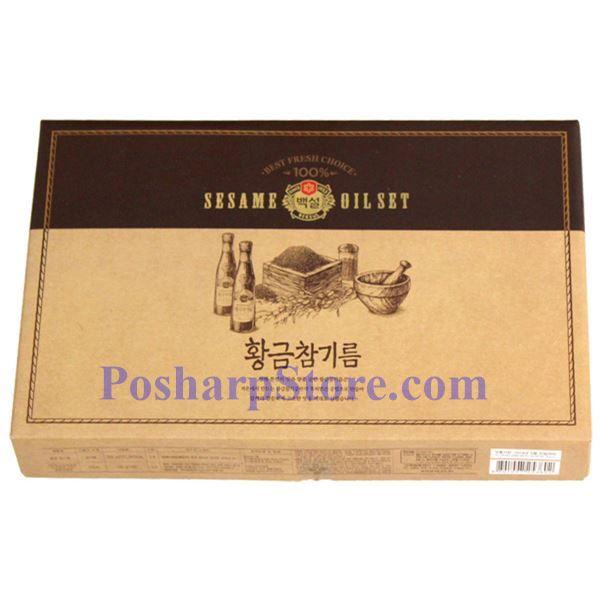 分类图片 韩国好餐得Haechandle牌特级麻油和特级海盐礼品盒
