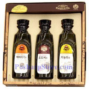 图片 韩国好餐得Haechandle牌葵瓜籽油,葡萄籽油,芥花籽油礼品盒