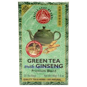 Picture of Triple Leaf Brand Premium Ginseng Green Tea, 20 Teabags