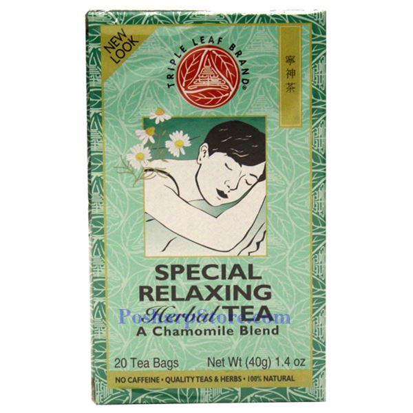 Triple leaf brand special relaxing tea 20 teabags
