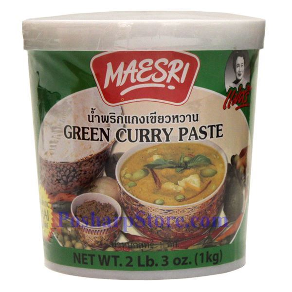 Picture of Maesri Thai Green Curry Paste 2.3 Lb