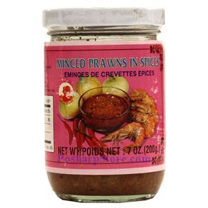 Picture of Cock Brand Minced Prawn In Spices 7 Oz